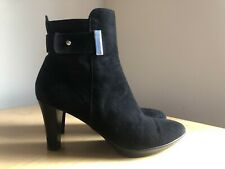 Aquatalia Russell And Bromley Ruby Dry Suede Boots Black Size 40