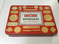 Vintage Huntley and Palmers Biscuit Tin - Cocktail Biscuits