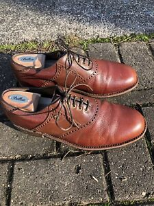 FootJoy Classics Dry Premiere 10 D mens Brown saddle golf shoes, waterproof