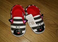 Mothercare Zebra Baby pram shoes size infant 4 (EUR 20) NEW FREE P&P