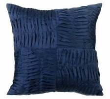 Pillow Cover Luxury Navy Blue 20x20 inch, Taffeta Pintuck - Navy Will Find You
