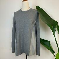 Seed Heritage Women's Wool Blend Two Toned Grey Jumper S A15
