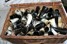 More details for drinking horn 100 ml plus real ox horn uk stock viking reenactment mead medieval