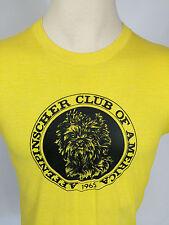 Vintage 80s Affenpinscher Toy Terrier Dog Club T Shirt Yellow Screen Stars USA
