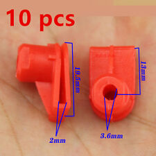 10x Red Opel Vauxhall Bumper to Wing Mounting Plastic Grommet Nut for Screws