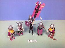 (L65) playmobil set barbares ou chevaliers du taureau ref 4436 4437 4438 4435