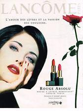 PUBLICITE ADVERTISING 035  1996  LANCOME  rouge à lèvres ROUGE ABSOLU