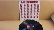 LOS INHUMANOS. 30 HOMBRES SOLOS.  MEXICAN LP. COVER G+, RECORD VG .