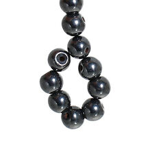 Lot 20 Perle Hematite Noir 4mm Magnetique Creation bijoux, bracelet, Collier