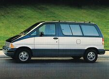 1988 Ford Aerostar Van Wagon Brochure w/Color Chart : Eddie Bauer,Xlt,Xl,Plus,