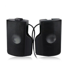 Notebook Clip Speaker Black with USB Connector 2 Channel for Laptop table PC
