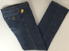 Apple Bottom Jeans Womens Size 8 Straight Stretch Blue Denim Medium Wash 28 x 30
