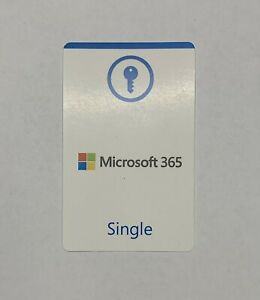 Microsoft 365 Single official product key card (EU license only)