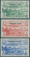 New Hebrides French due 1957 SGFD107-FD109 Scenes TIMBRE-TAXE MNH