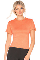 NEW Free People Movement Madeline Funnel Baby Tee Peach Sz XS/S & M/L $62.82