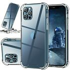 For iPhone 12 11 Pro X XS Max XR 6 6s 7 8 Plus SE Mini Shockproof Clear Case