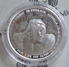 Kongo 5.000 CFA Francs 2017 ° 1 oz. 999 Silber PL ° Gorilla Silberrücken °
