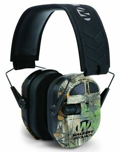 Walkers Ultimate Power Electronic Ear Muff QUADS 27db Hunting Enhanced REALTREE-