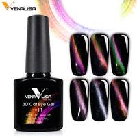 VENALISA Star 3D Chameleon Color Magnetic Cat Eyes UV Gel  Polish Top Base Coat