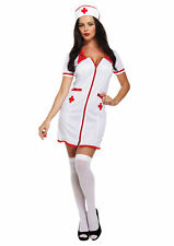 Ladies Sexy Nurse outfit Fancy Dress Costume Adult Women  Outfit Size 8 10 12