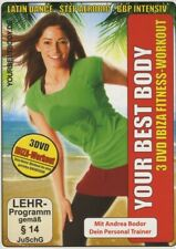 ANDREA/FITNESS BODOR - YOUR BEST BODY/3X IBIZA FITNESS WORKOUT 3 DVD NEU