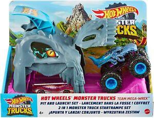 Hot Wheels Monster Trucks Pit and Launch Play Set - Team Mega-Wrex - Mattel