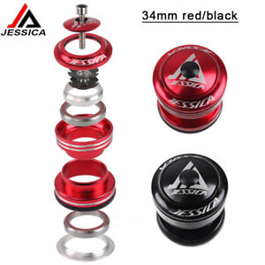 34mm MTB Road Bike Bearings Headset External 1-1/8 Threadless Fork Steerer Parts