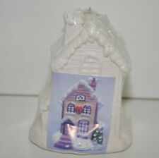 Christmas ornament House Cottage Ceramic Bisque Ready to Paint