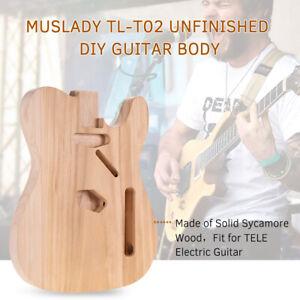 Unfinished Electric Guitar Body Sycamore Wood Blank Guitar Barrel DIY Parts AU