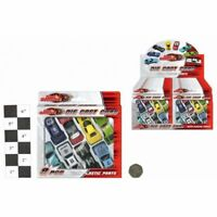 8pcs Die Cast Cars Plastic Parts Racing Toy Fun Play Boys Vehicle Set Kids Gift