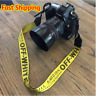 Original Off White Camera Strap Yellow Industrial Belt Neck Shoulder DSLR