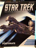 Star Trek Eaglemoss ECS Fortunate Starship & magazine #49