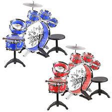 Urban Kit Kids Musical Drum Instrument Set Toy Band Blue/Red