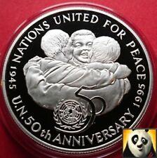 1995 Giamaica $25 DOLLARI delle Nazioni Unite per i bambini della Pace Argento Proof Coin