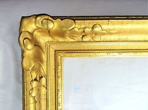 "ANTIQUE FITS 26"" X 31"" LEMON GOLD GILT ORNATE NEWCOMB MAKLIN STYLE ART NOUVEAU"