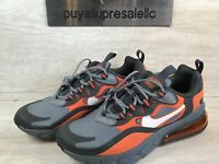 Nike Air Max 270 React GS Big Kids' Shoes. Cool Grey/Orange BQ0103-006 Size 5.5Y