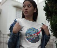 Nasa Starry Night T-Shirt Short Sleeve Tee Van Gogh Shirt Unisex Printed T-Shirt