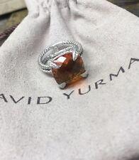 David yurman$800 chatelaine ring Honey Yellow topaz and diamonds 11mm. size 5.5