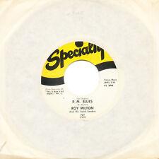 ROY MILTON R. M. Blues / Best Wishes US Press Speciality 721 SP