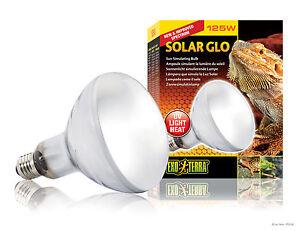Exo Terra Solar Glo 125 Watt Mercury Vapour Lizard UVB Globe Light