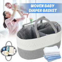 Handle Storage Basket Baby Diaper Clothes Toys Organizer Hamper Outdoor Gift