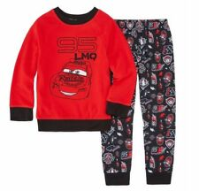Disney Collection CARS 2-Piece Pajamas Fleece Top & Knit Pants Set Boy Size 4