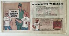 1972 newspaper ad for Peter Pan Peanut Butter - Join the Wonderful Weirdo