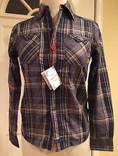 English Laundry Por Christopher Absorbe Camisa de algodón manga larga cuadros