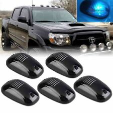 5pcs Smoked Lens Ice Blue 5-Smd Led Cab Roof Marker Lights For Car Truck Suv 4x4