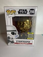 Funko POP ! STAR WARS Celebration Gold Chrome Stormtrooper - Galactic Exclusive
