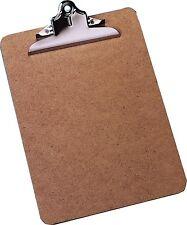 10 x A4 Clipboards Masonite Heavy Duty Clip Board Wooden