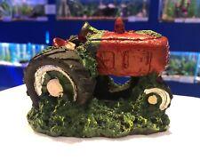 Red Big Wheel Tractor Aquarium Kids Fish Tank Ornament 846