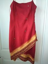 ScarletT indian print summer dress red and yellow size 13/14