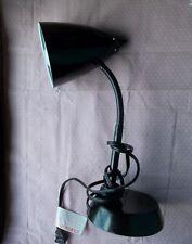 Vintage Black Bullet Desk Lamp Gooseneck Weighted Base Retro Modern 16 inch